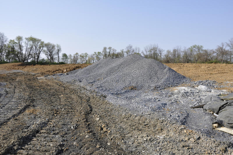 Large gravel pile royalty free stock image