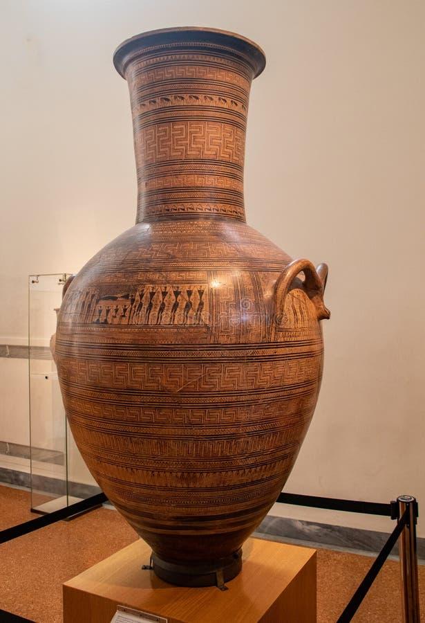 A Large Greek Vase stock photography