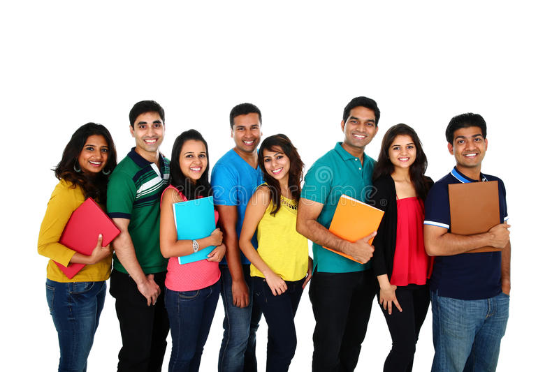 Large group of Asian students. royalty free stock images