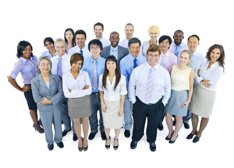 Large Group of Business People royalty free stock images