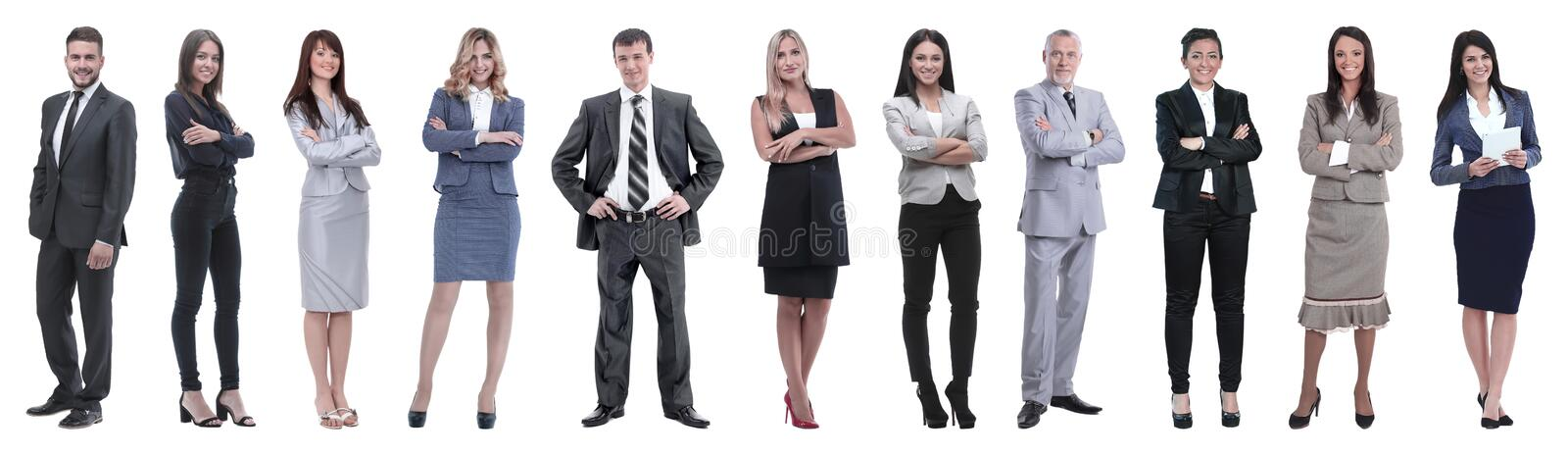 Large group of business people. Isolated over white. royalty free stock photo