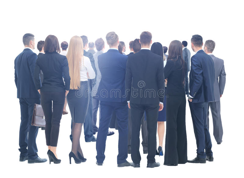 Large group of business people. Over white background royalty free stock photo