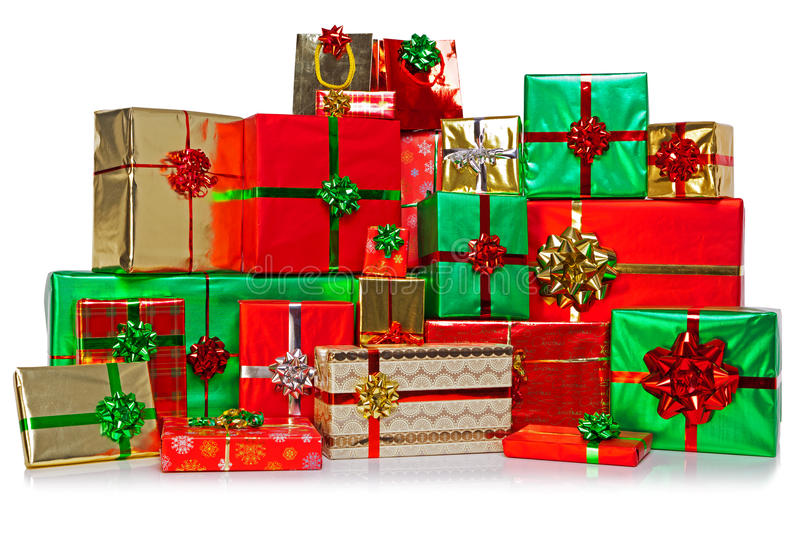 Download Large Group Of Christmas Presents Stock Photo - Image of group, nobody: 27643946