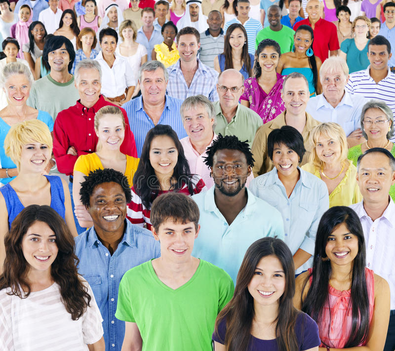 Large Group of Multi-Ethnic People royalty free stock photos