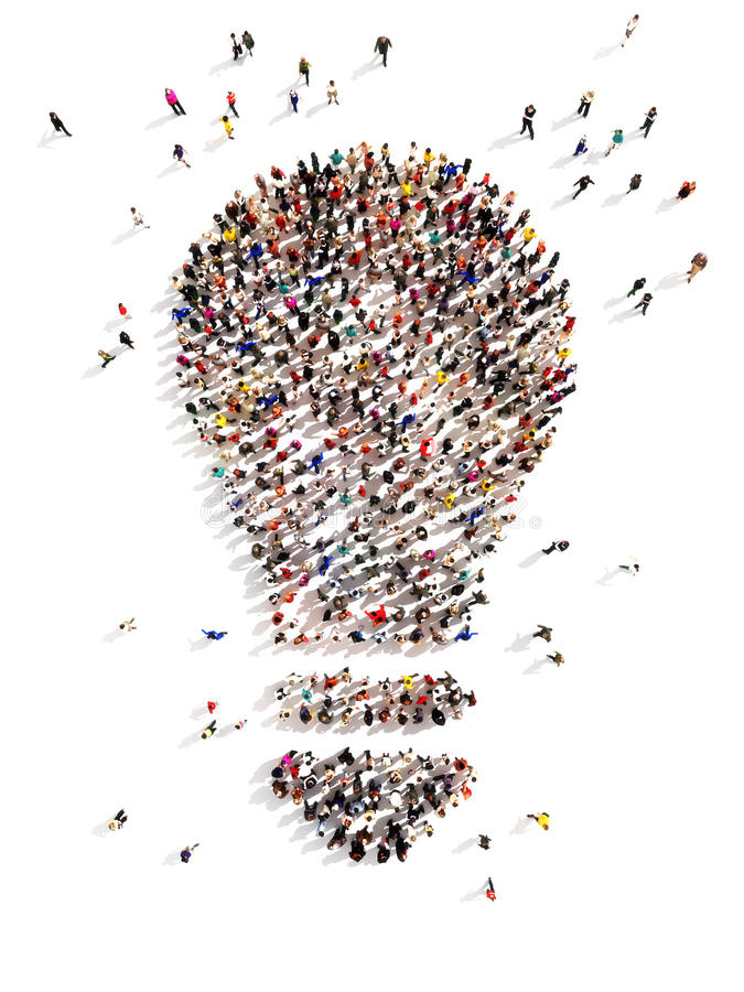 Free Large Group Of People With Ideas Royalty Free Stock Photo - 41461065