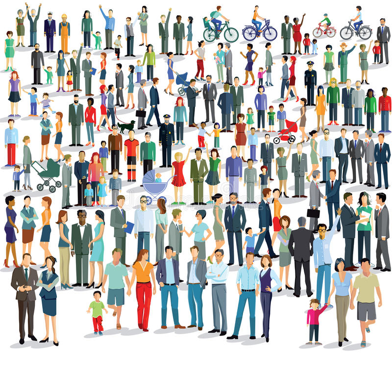 Large group of people vector illustration