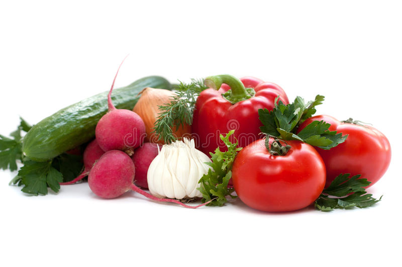 Large group of vegetables stock photography