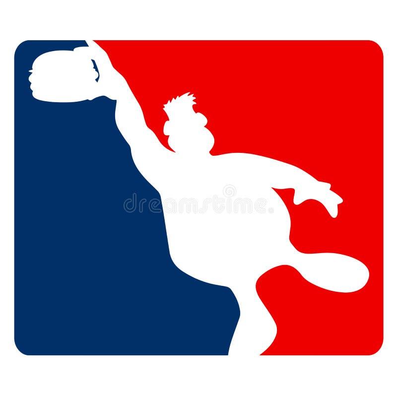 Large Guy Slamming a Hamburger Sports Cartoon Vector Illustration stock photography