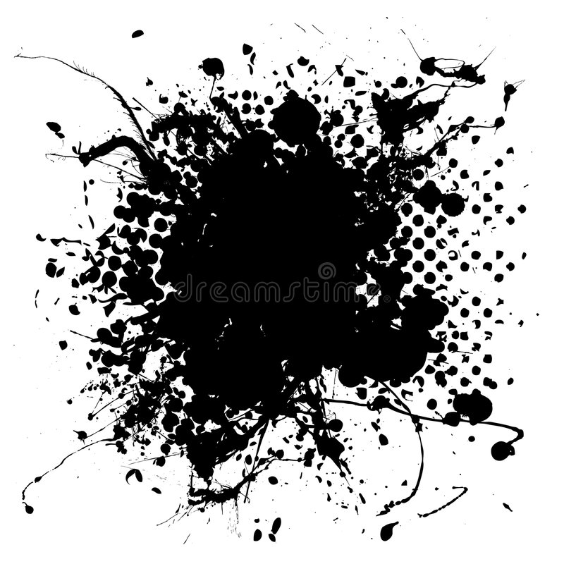 Large halftone ink splat vector illustration