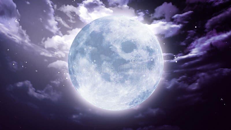 Large Halloween moon stock illustration. Illustration of dark ...