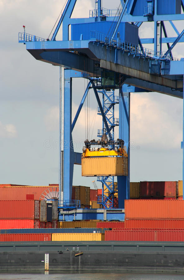 Download Large Harbor Crane Stock Photography - Image: 16705062