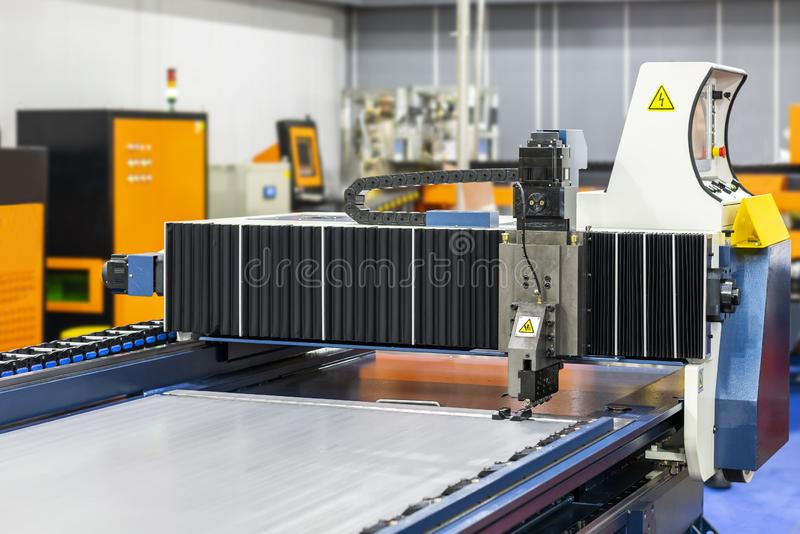 Large high technology modern and automatic horizontal cnc planer machine for industrial in manufacturing process royalty free stock image