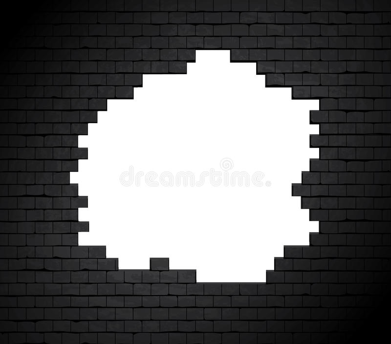Download Large Hole On Brick Wall. Stock Image - Image: 23061681