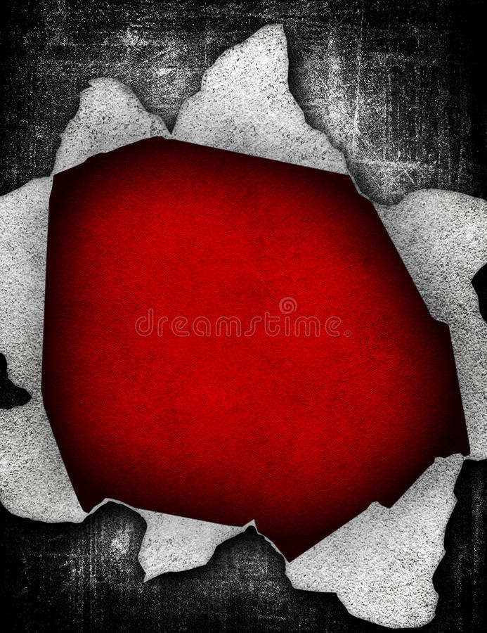 Download Large hole in grunge paper stock illustration. Image of page - 13716880