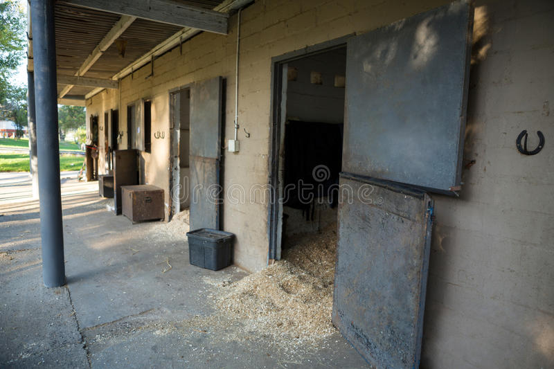 Large horse stable stock photography