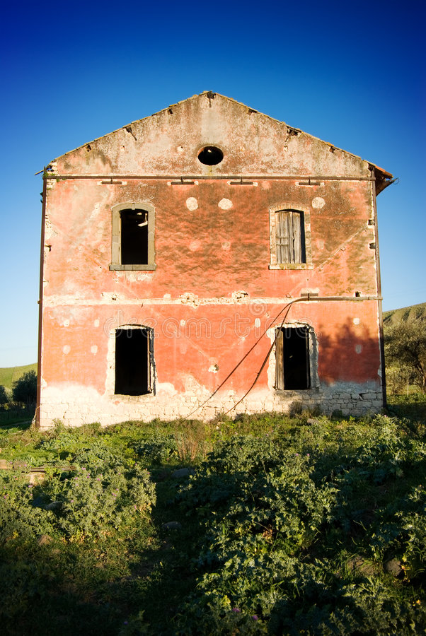 Large House In Abandonment Royalty Free Stock Photography