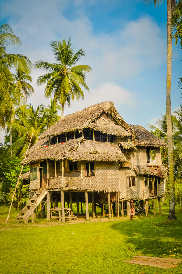 Large house in Avatip royalty free stock photos