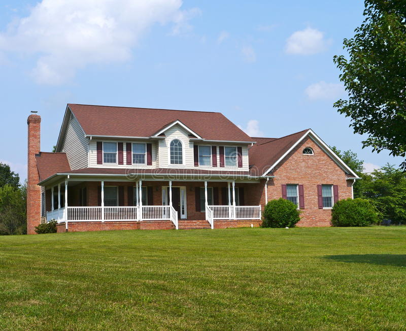 Large house and yard royalty free stock photography