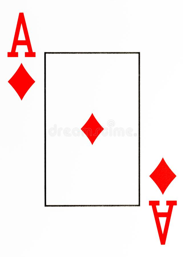Large index playing card ace of diamonds royalty free illustration