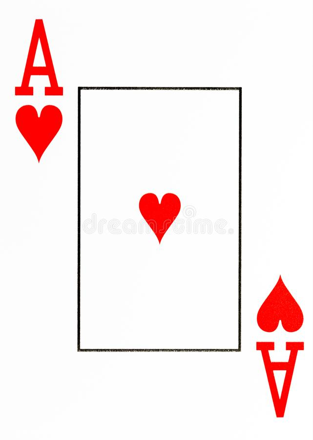 Large index playing card ace of hearts royalty free illustration