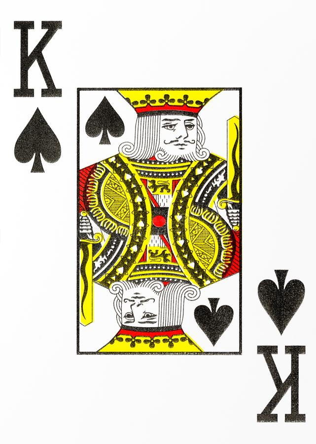 Large index playing card king of spades vector illustration