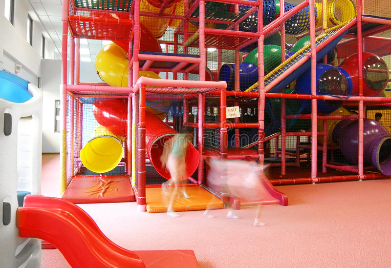 Large Indoor Play Ground Royalty Free Stock Photography