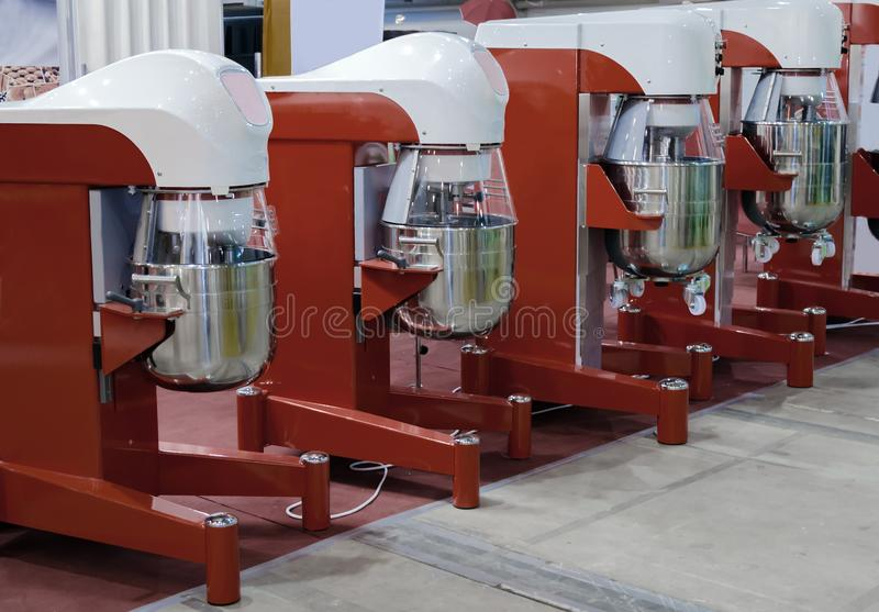 Large industrial dough mixer, available for sale stock photo