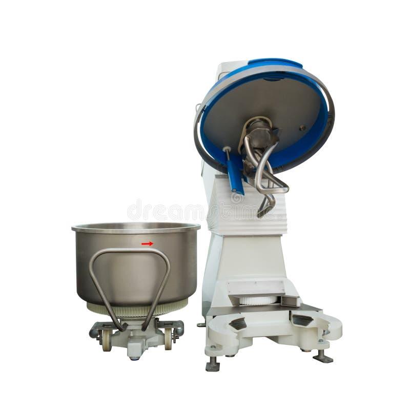 Large Industrial dough mixer in bakery stock photos