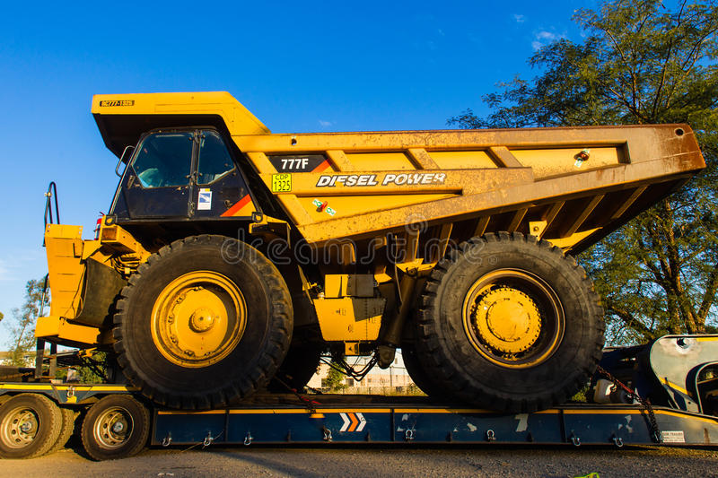 Large Industrial Mining Trucks royalty free stock photography