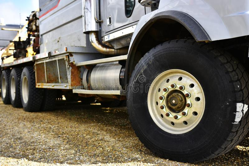 Large Industrial Truck Tire royalty free stock images