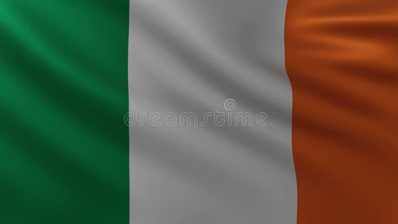 Large Irish Flag in the wind stock illustration
