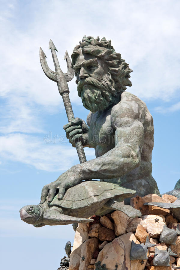 Large King Neptune Statue in VA royalty free stock photo