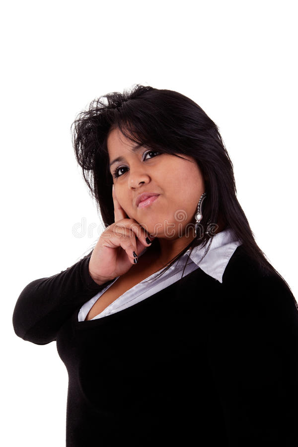Download Large  latin woman stock photo. Image of large, cheerful - 17391488