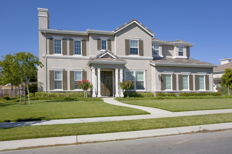 Large Luxurious Home. Exterior shot of a large luxurious home stock photography