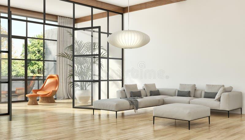 large luxury modern bright interiors apartment Living room illus royalty free illustration