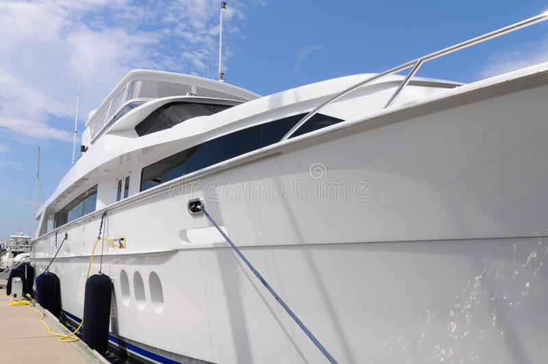 Large Luxury Yacht stock image
