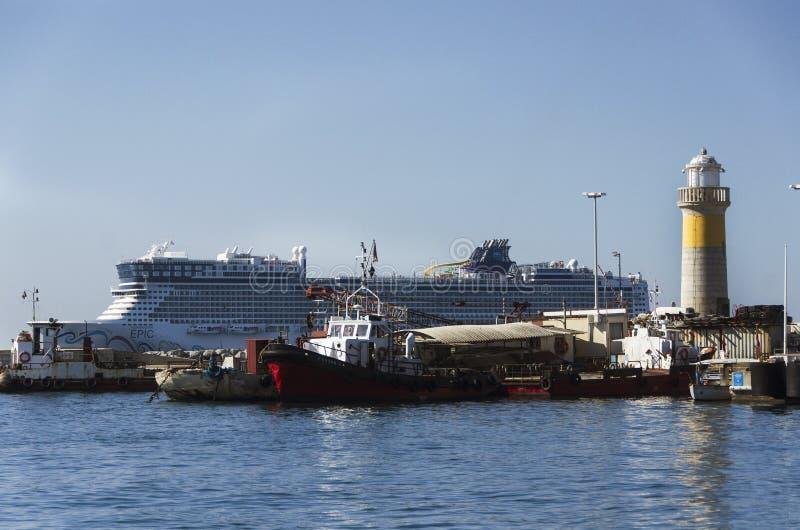 Large luxury yachts, passenger cruise ferry boat stock photos