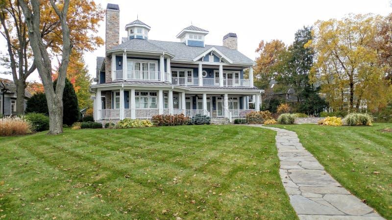 Large Mansion House, Shorepath, Lake Geneva, WI royalty free stock photo