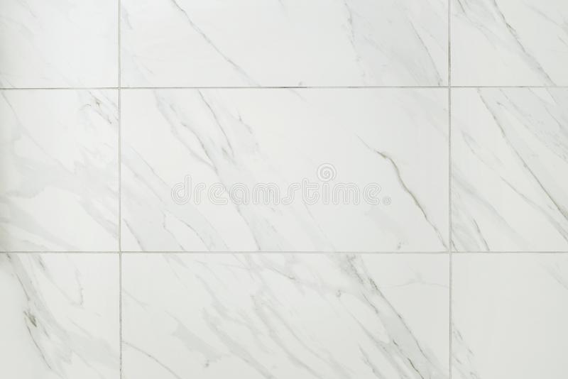 Large marble tile bathroom wall stock photos