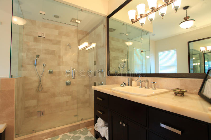 Download Large master bathroom stock photo. Image of bathroom - 18279292