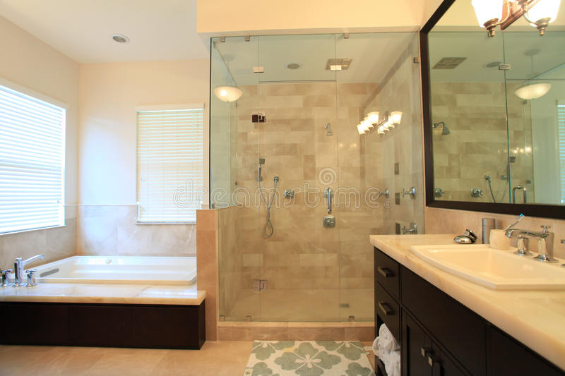 Large Master Bathroom Royalty Free Stock Images
