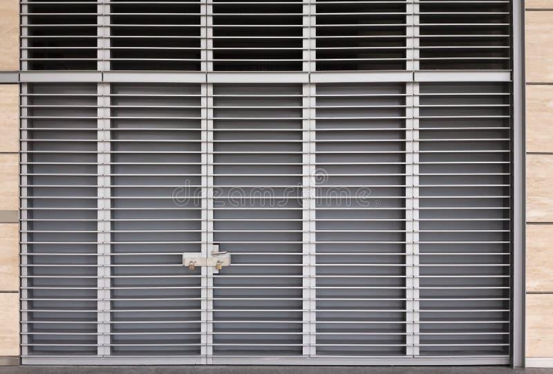 Download Large metal door stock image. Image of panel, commercial - 28746279