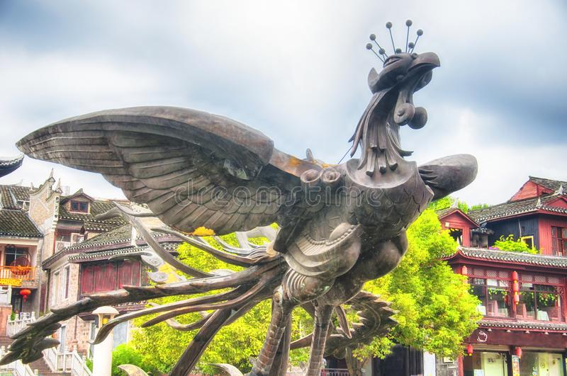Fenghuang or phoenix statue china stock photos