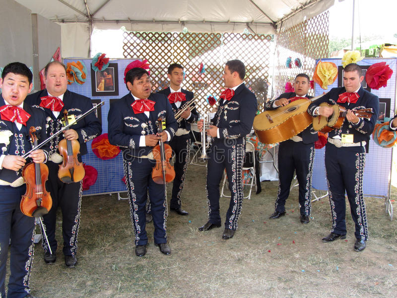 Large Mexican Mariachi Band stock photography