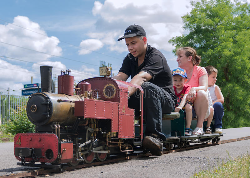 Large Miniature Steam Train royalty free stock photos