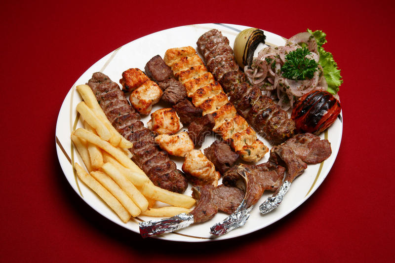 Large Mixed Grills royalty free stock photography
