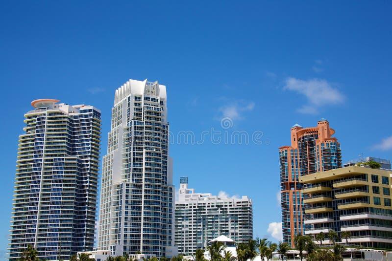 Large modern buildings stock image