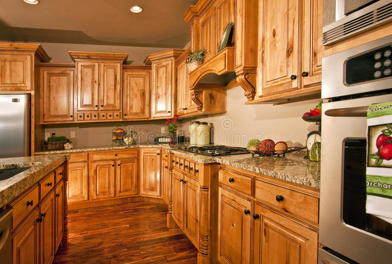 Large Modern Kitchen and Appliances stock photos