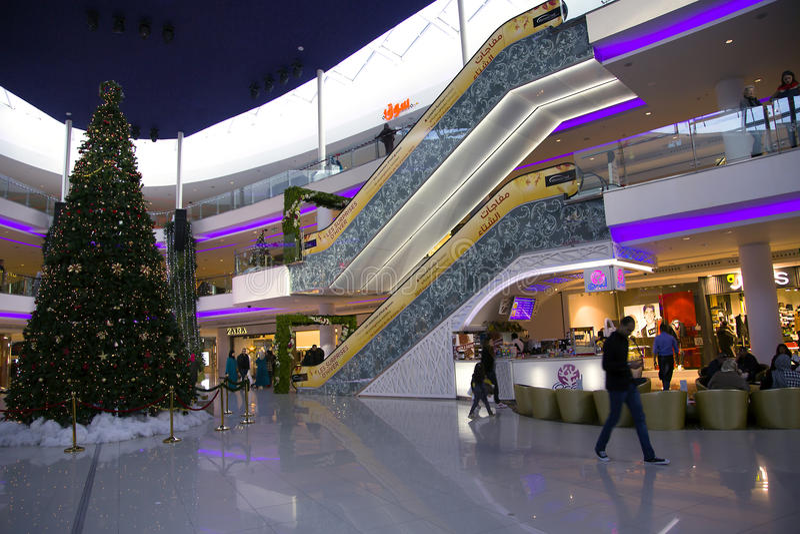 Large modern shopping center Morocco Mall royalty free stock photos