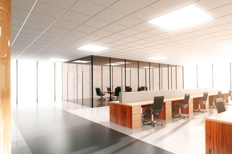 Large modern sunny office royalty free illustration
